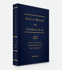 Annual Review of Criminal Law