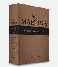 Martin's Annual Criminal Code