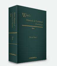 Watt's Manual of Criminal Evidence