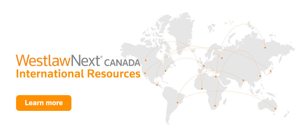 WestlawNext Canada International Resources