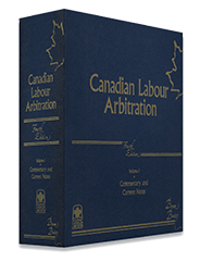 Canadian Labour Arbitration,