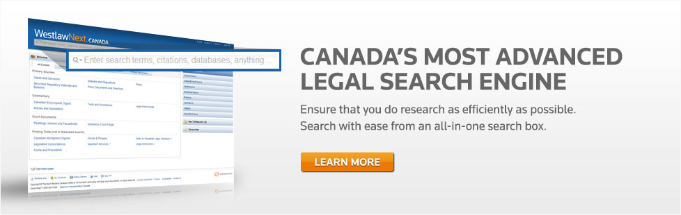 Canada's Most Advanced Legal Search Engine