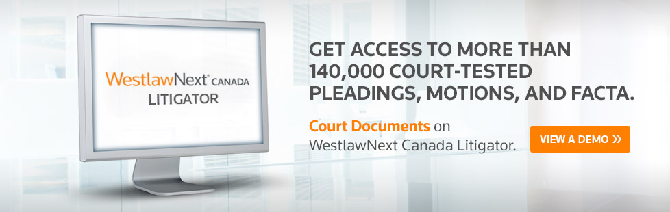 Canada's largest collection of online Court Documents