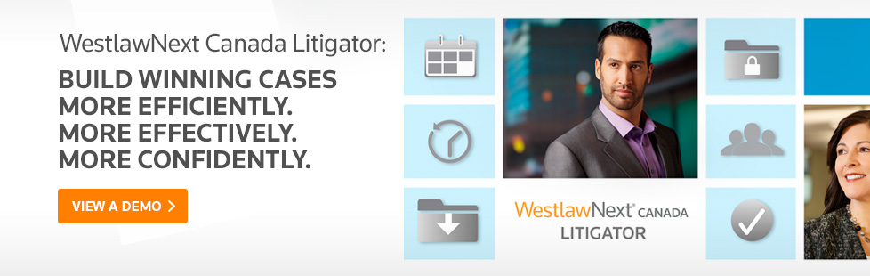 Litigator from WestlawNext brings you the best Case Law