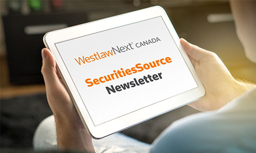 Securities Source Newsletter | Canadian Securities Administrators